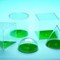3D Geometric Figures 10cm Transparent