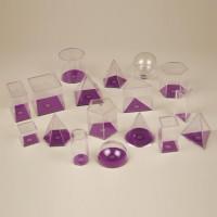 3D Geometric Figures 5cm Transparent