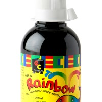 Rainbow Acrylic 250ml Black