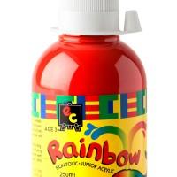 Rainbow Acrylic 250ml Vermillion