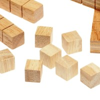 Wooden Base 10 Set Cubes
