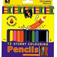 Jumbo Stubby Colouring Pencils 12