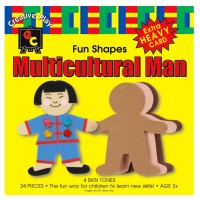 Paper Shapes Multicultural Men
