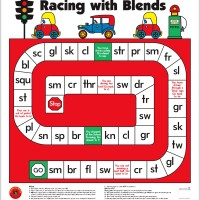 Racing with Blends Floor Game