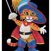 Junior Sequin Art Muskateer Cat