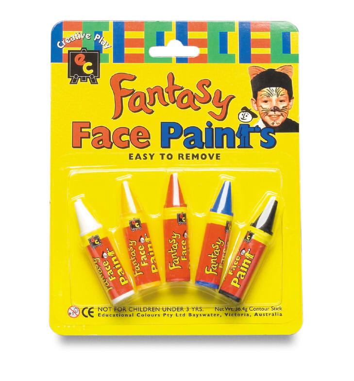 Paint_FacePaintCrayon_FPC5_Fantasy Face Paint Crayons Pkt 5