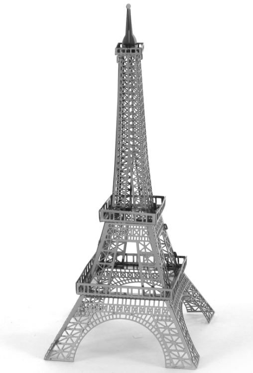 Eiffel tower 3d laser cut metal model kit learn heaps for Eiffel tower model template
