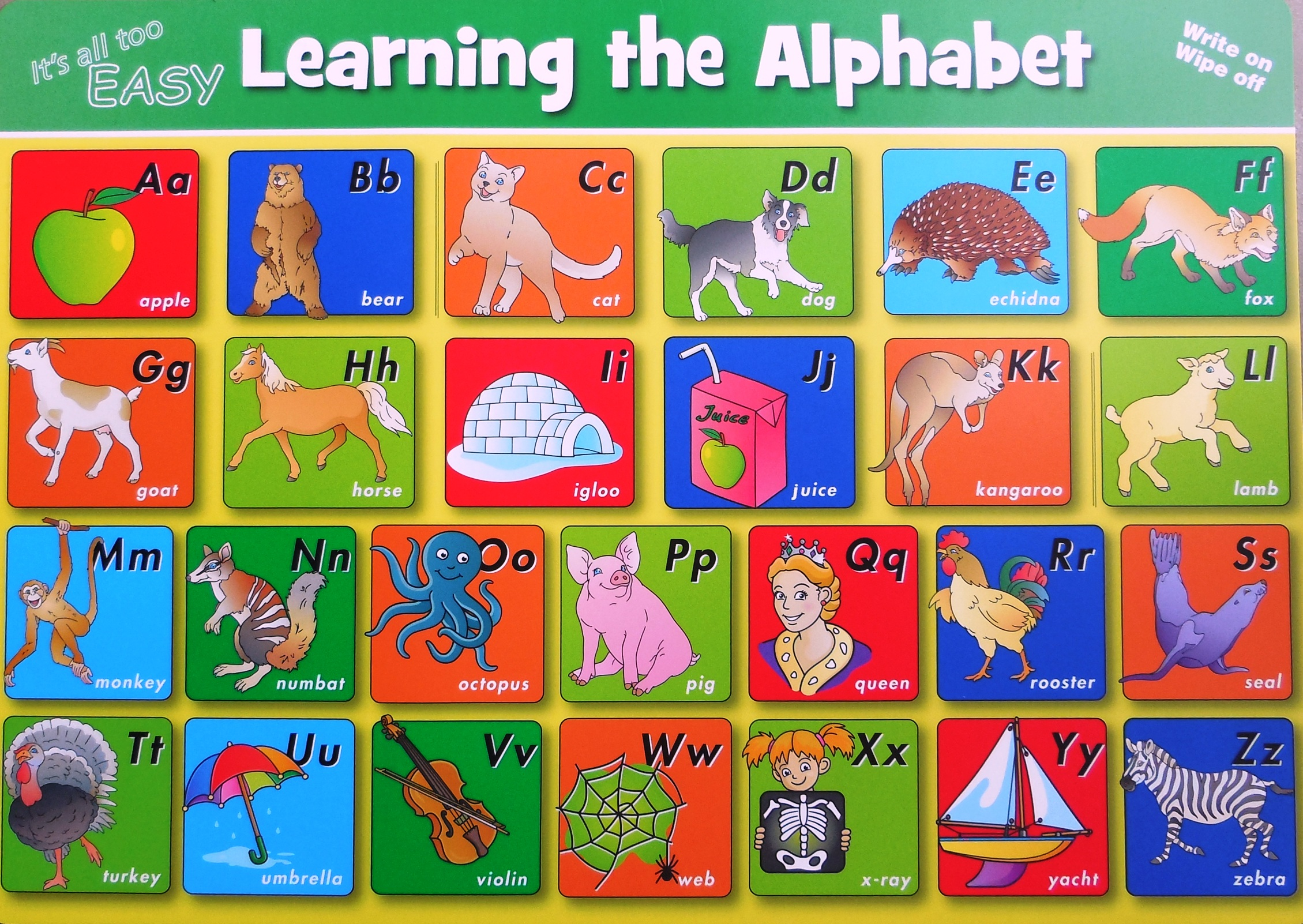 Learning The Alphabet Double Sided Deskmat Learn Heaps