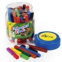 Coloured plastic rods