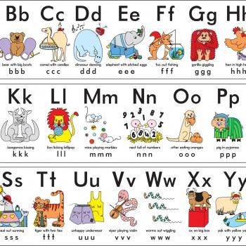 Silly Alphabet ABC Wall Frieze – Learn Heaps